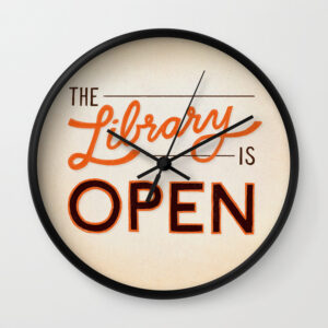 the-library-is-open-894-wall-clocks